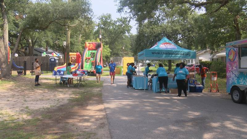 Kids got to enjoy music, food, games and more, including visits from the North Charleston...