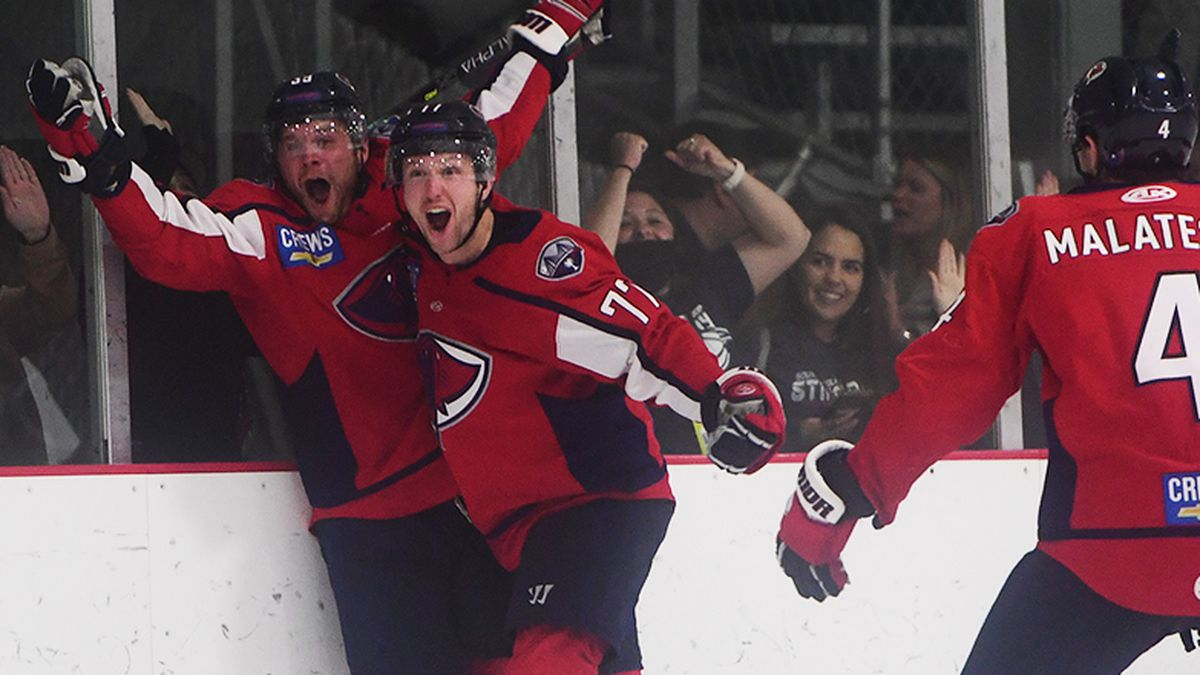 The Stingrays took game 1 of their best of 5 series over Florida, 3-2 in overtime on Monday