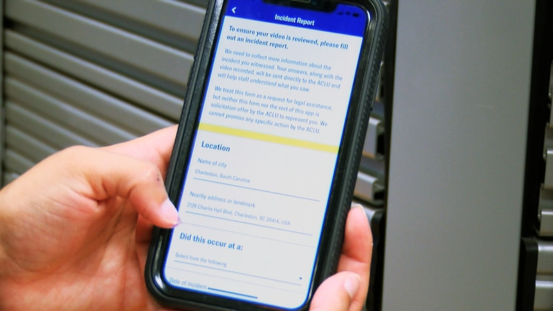 The American Civil Liberties Union of South Carolina has launched a free app that allows people...
