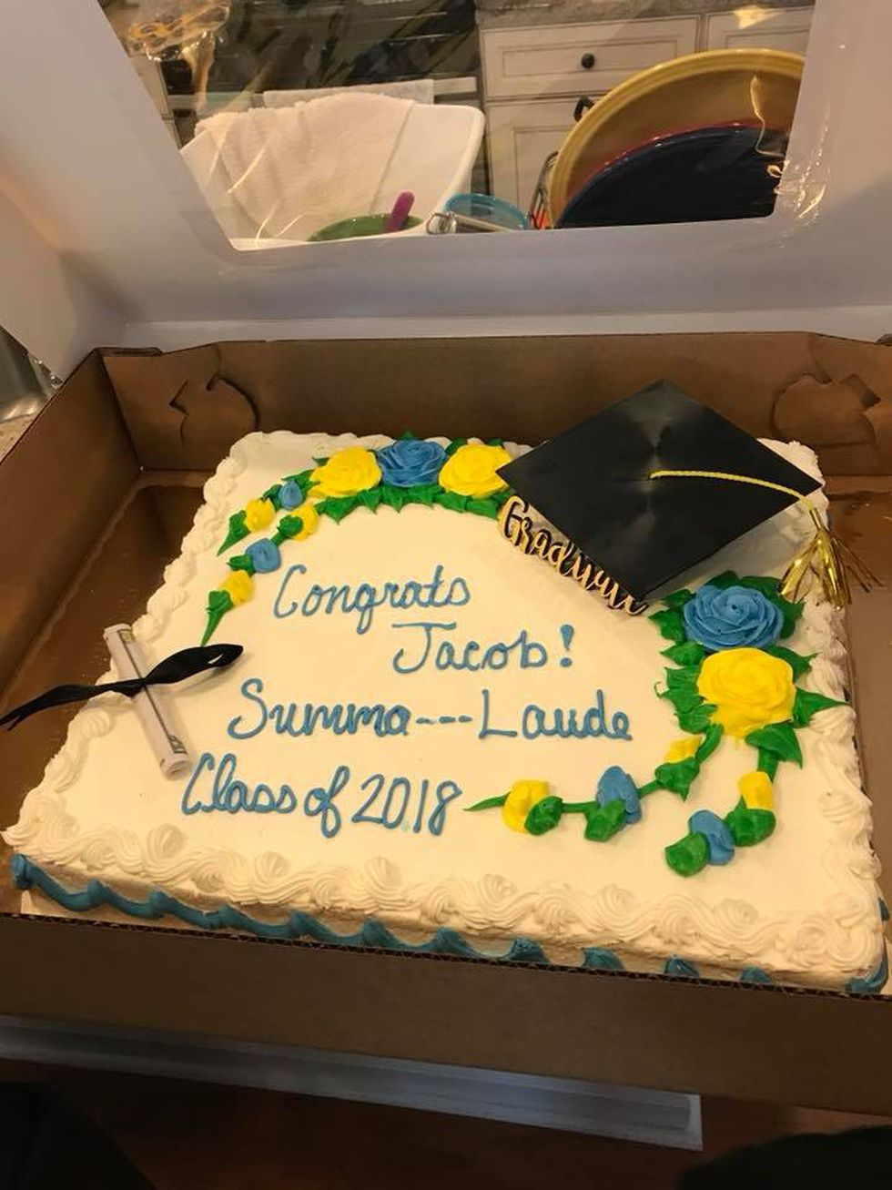 Another angle of the cake which Koscinski ordered from the West Ashley Publix (Source: Provided)