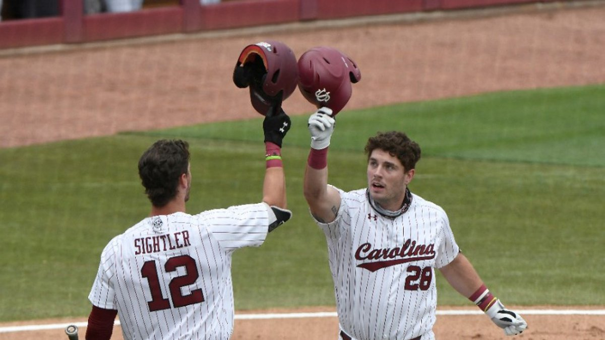 Wes Clarke homered to help South Carolina beat Virginia in their NCAA Regional opener on Friday