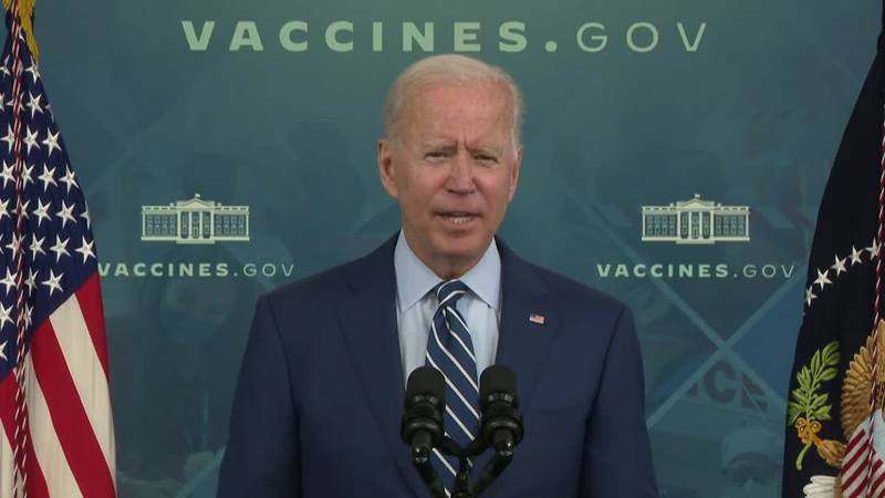 President Joe Biden asked Americans to get vaccinated, as it could save their lives and the...