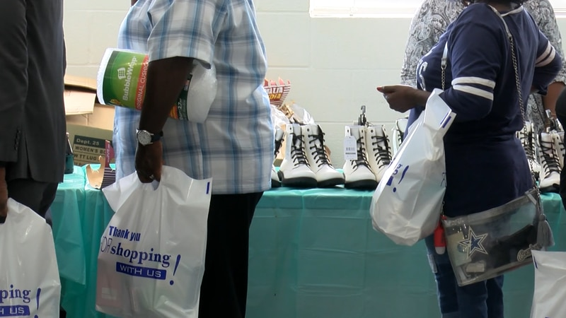 Over four hundred people came to the Cross Community Center Sunday to receive supplies from...