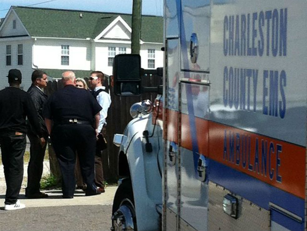 Police and EMS on scene. (Source: Harve Jacobs)