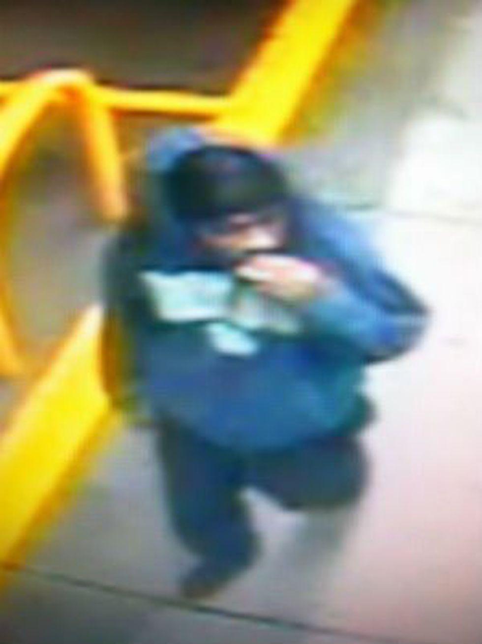 Video surveillance shows the suspect. (Source: NCPD)