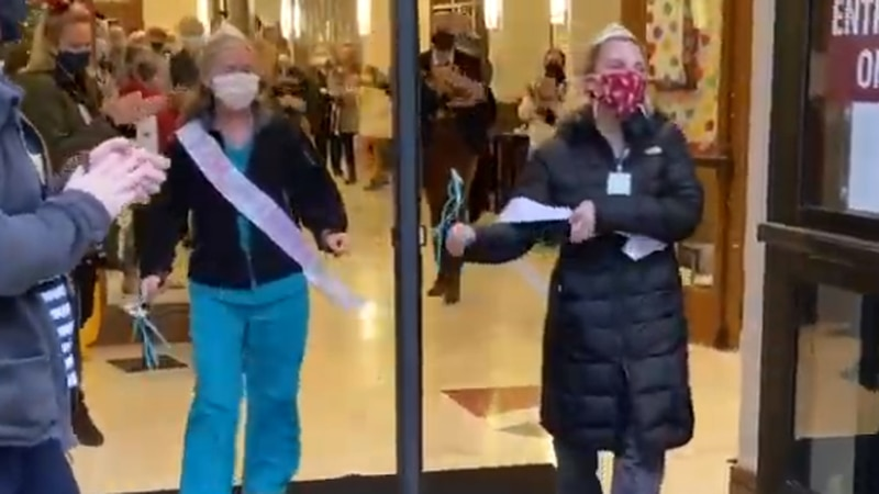 Two school nurse practitioners at Porter-Gaud School were honored with a surprise parade after...