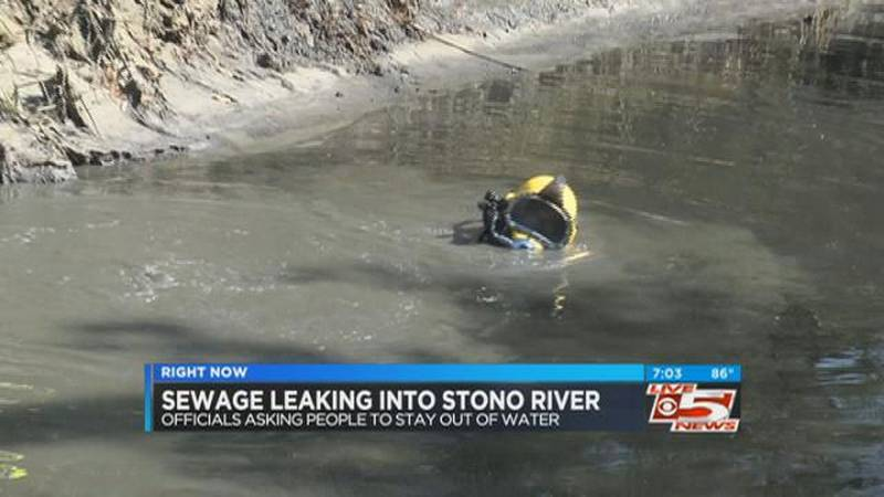 VIDEO: Sewage line repair to continue into Thursday, crews say
