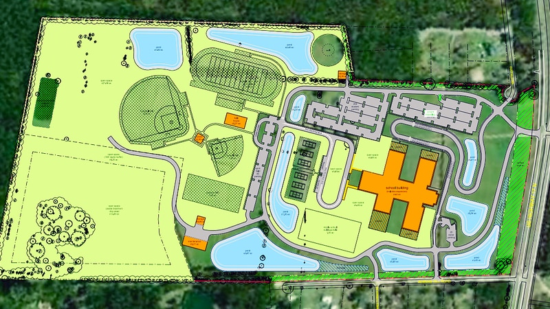 The Charleston County School District wants to turn a large plot of land between Awendaw and...