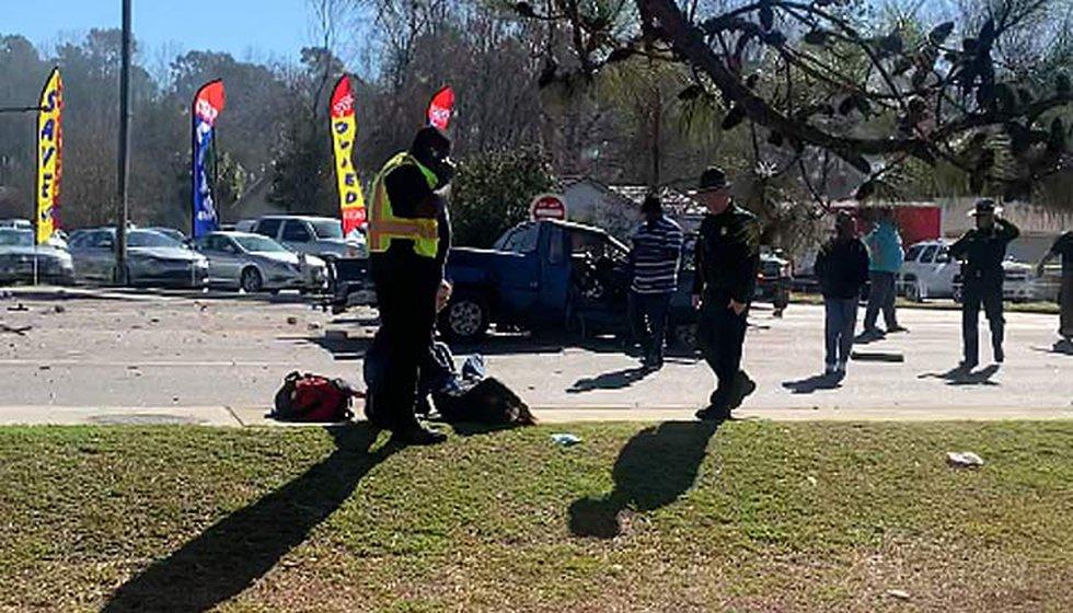 The crash happened in the 1300 block of Main Street in Bonneau, deputies say.