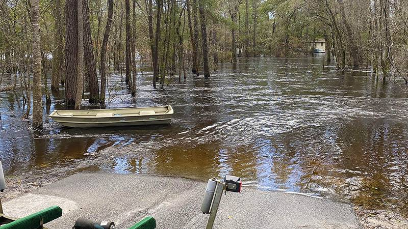 Residents living on Happiness Lane in Ridgeville are dealing with flooding from the Edisto...