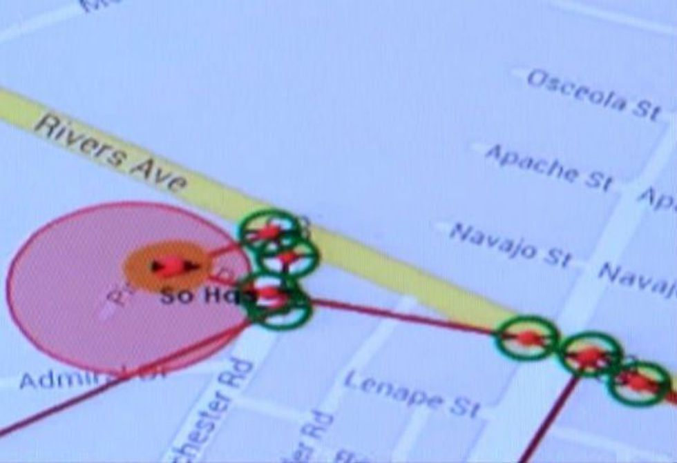 Red zones on tracking maps will indicate areas the offender is not allowed to visit as a term...