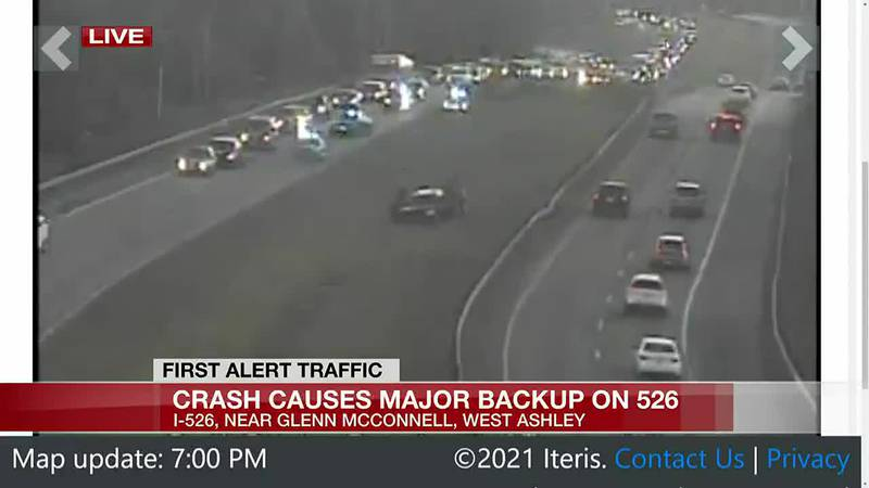 VIDEO: I-526 EB lanes in West Ashley reopened following crash involving injuries