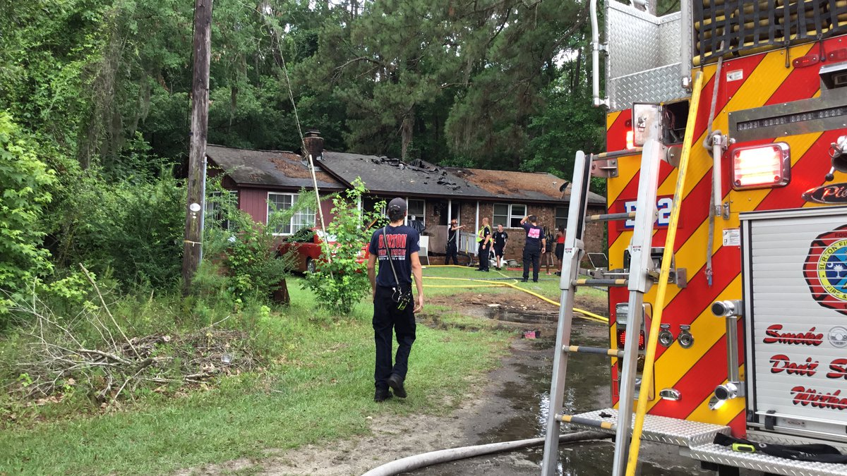 Two people were injured and a family displaced following a house fire in Beaufort County. It...