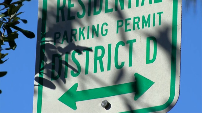Residential parking sign in downtown Charleston (Source: Live 5)