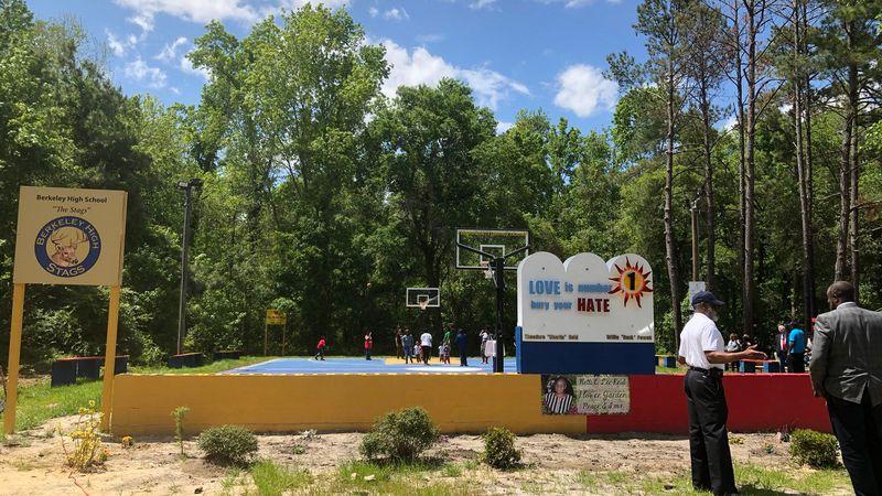 The Moncks Corner community dedicated a new basketball court Saturday. (Source: Live 5)