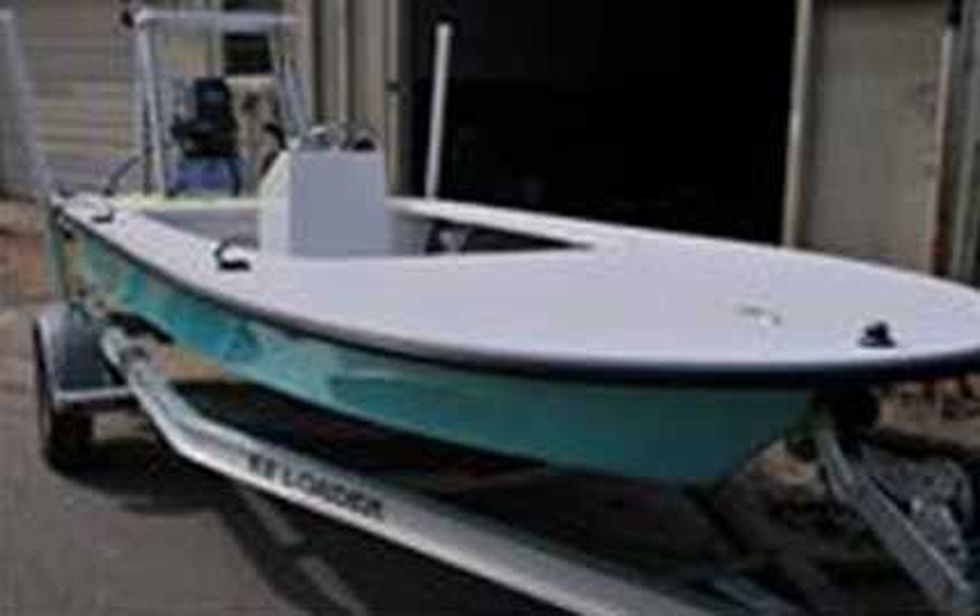 Picture of a boat similar to the craft that authorities found capsized on Tuesday.
