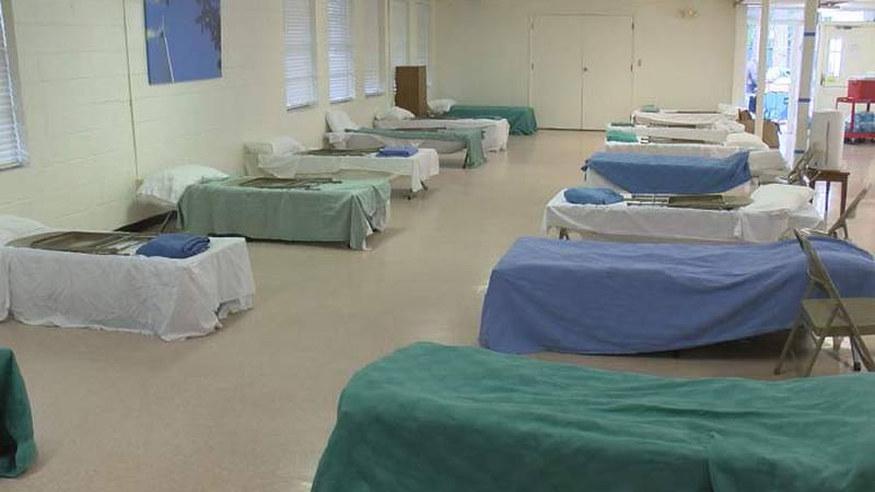 The only warming shelter in North Charleston received a collection of coats, sleeping bags,...