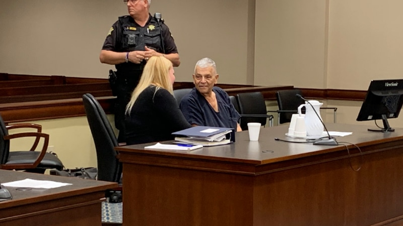 Fred Hopkins appears in court as a judge considers if he will undergo a mental health...