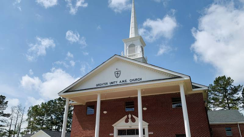 Greater Unity AME Church in Holly Hill is undergoing renovations to help prevent the spread of...