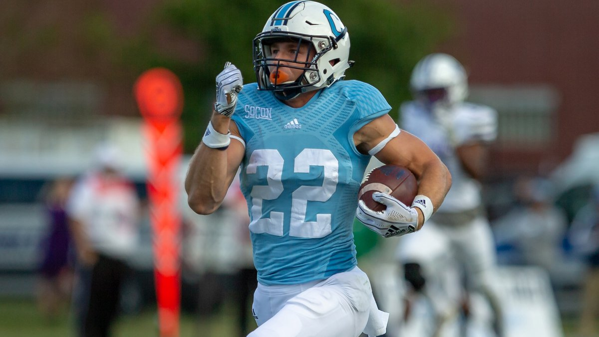 The Citadel WR Raleigh Webb will spend the spring season playing football and working on his...
