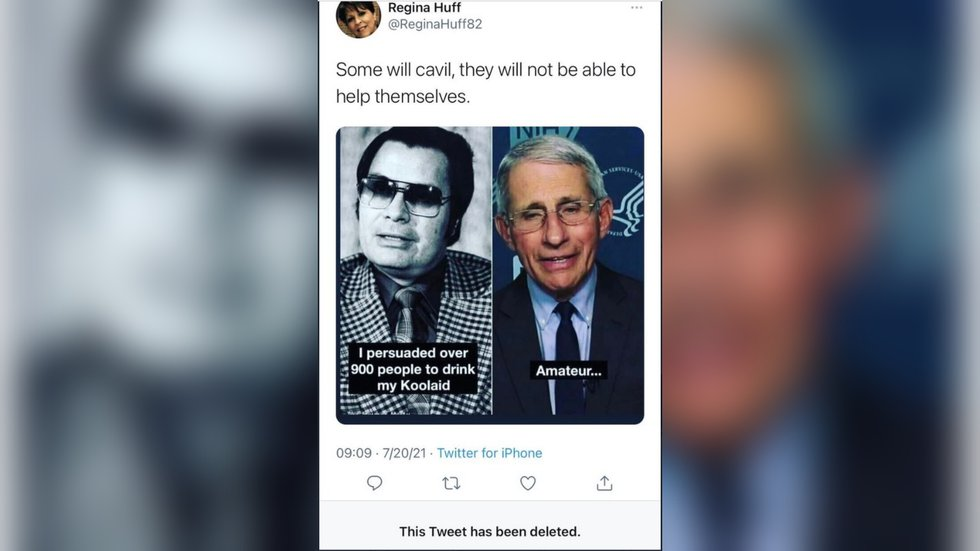 A state representative is defending her actions in sending out a tweet comparing Anthony Fauci...