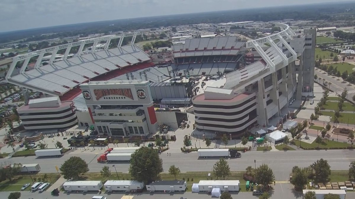 Normally, about 80,000 fans would be packing into Williams-Brice Stadium for a game, but not in...