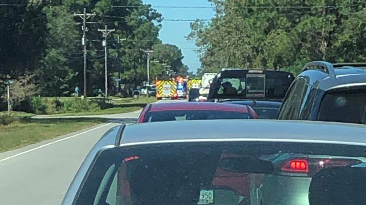The crash was reported near Elijah Smalls Road, according to Mount Pleasant Police.