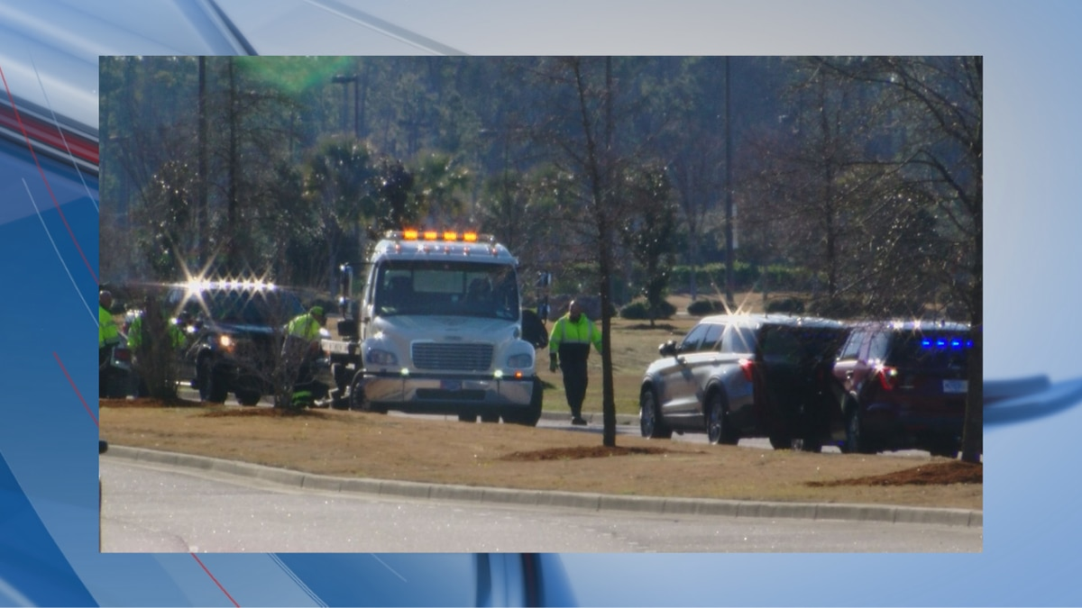 Authorities were on the scene of a fatal crash on Harrelson Boulevard Saturday morning.