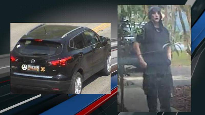 Summerville Police released images of a stolen 2017 Nissan Rogue and a person they say they are...