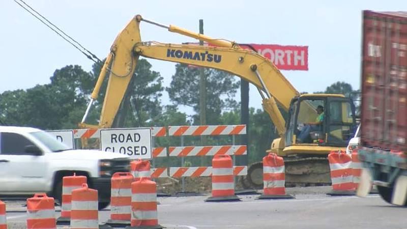 Crews continue to work on the Jedburg Road bridge over I-26. The Charleston Area Transportation...