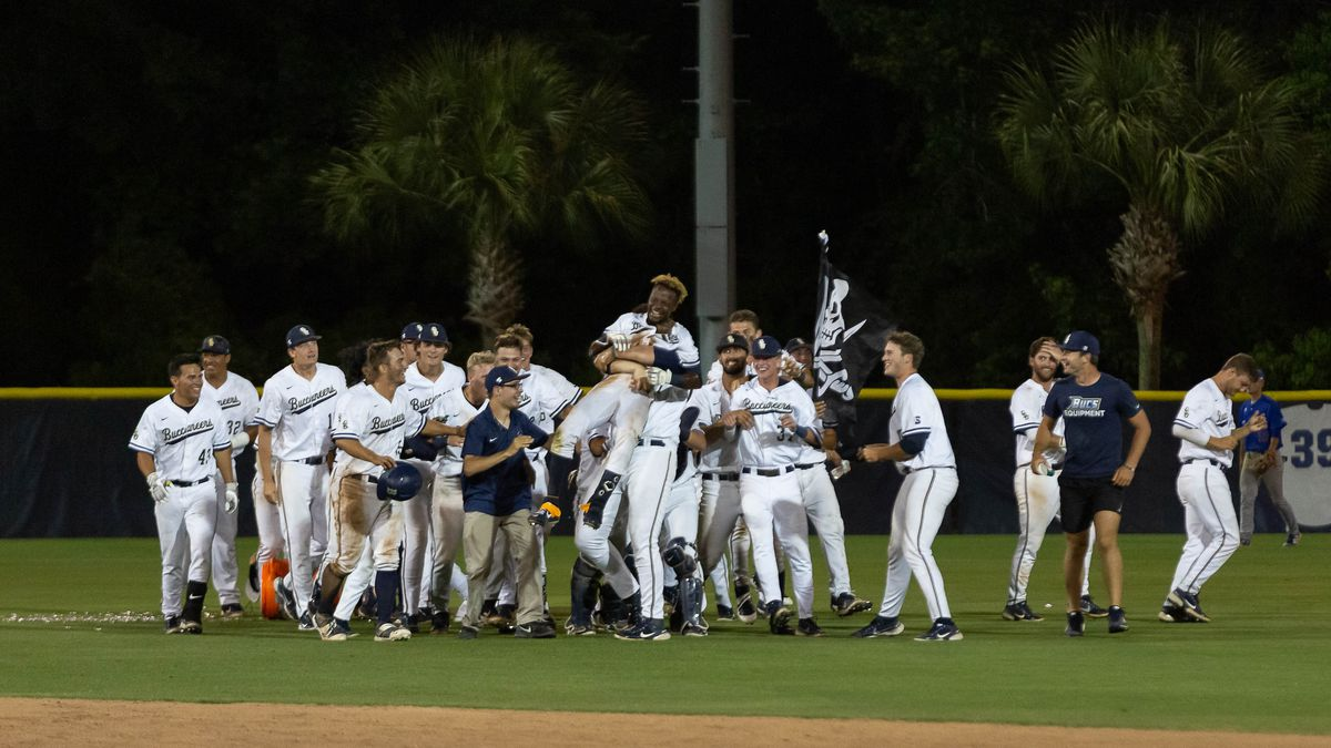 CSU celebrates after a walk-off win over Presbyterian on Tuesday