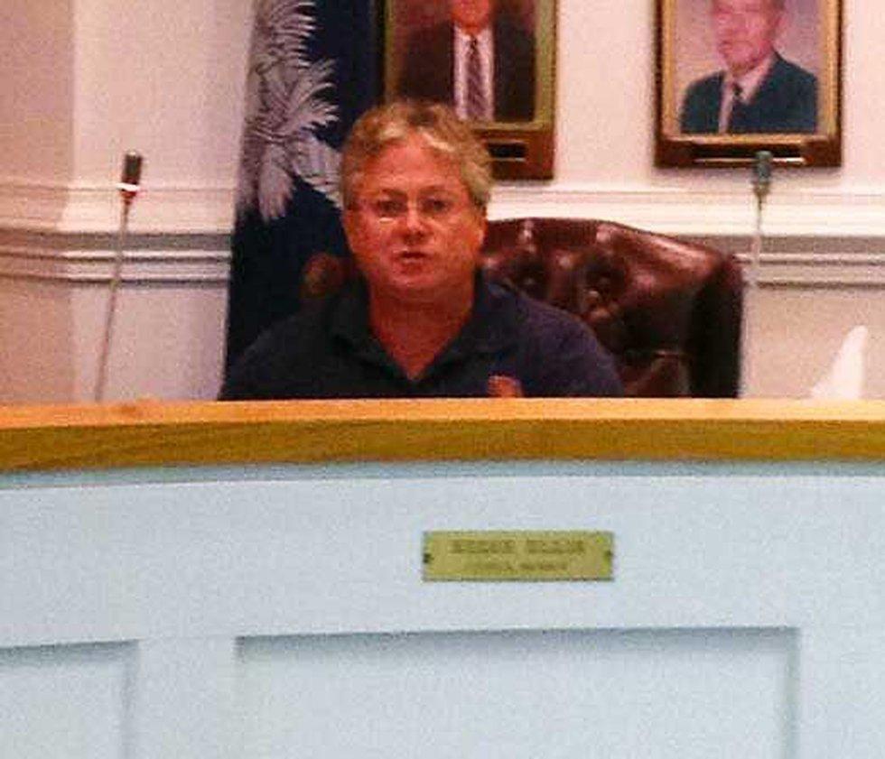 Eddie Ellis during a council meeting Tuesday night.