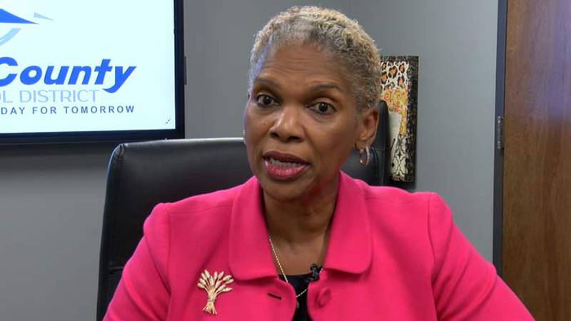 Dr. Vallerie Cave's first day on the job as the new superintendent of Colleton County Schools...