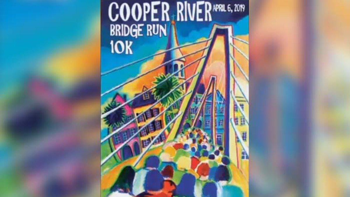 Local artist D. Scott Stevenson's impressionist-style piece won the 2019 Cooper River Bridge...