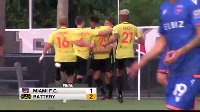 Battery defeat Miami FC for first victory at Patriots Point