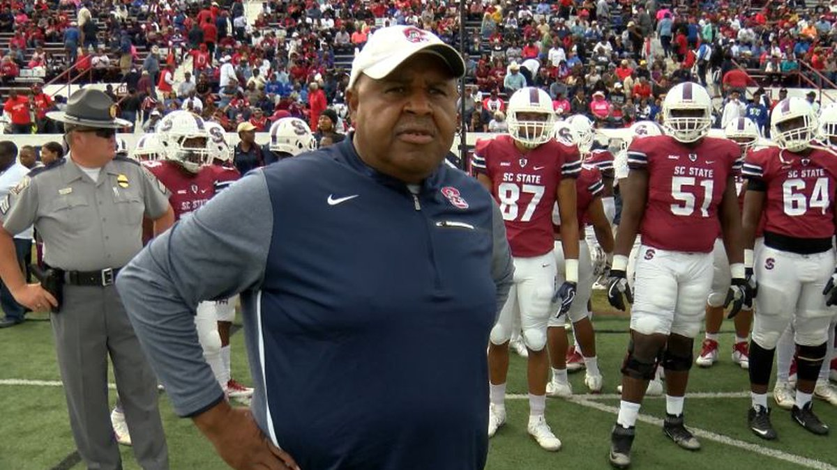South Carolina State gave head football coach Buddy Pough a 1-year extension on Wednesday