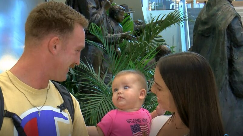 National Guard Specialist Conner Smith returned home from deployment and got to meet his...