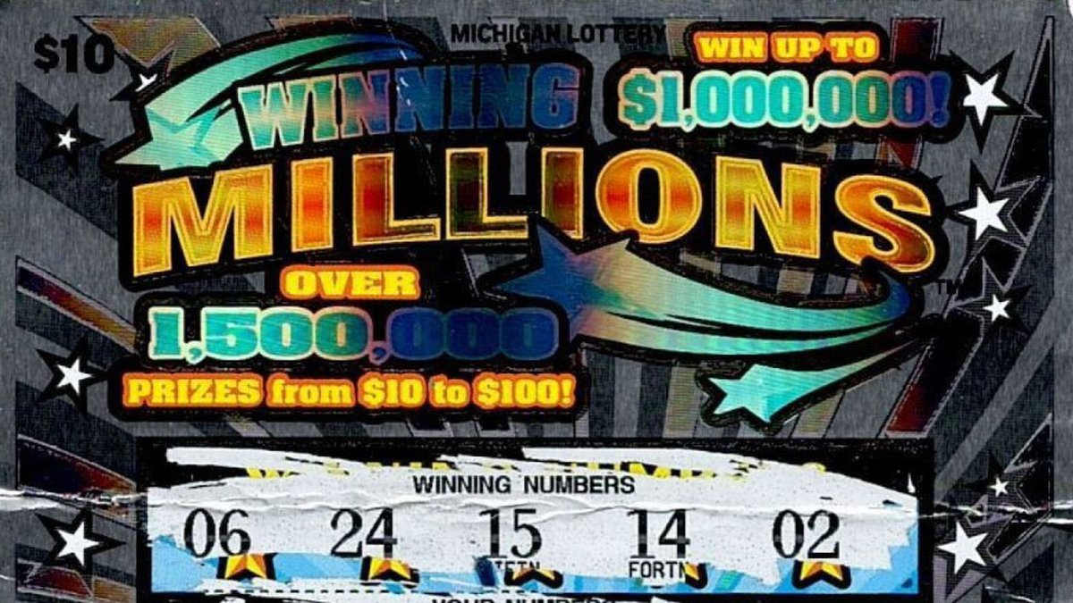 A 59-year-old man won $1 million with this scratch off lottery ticket purchased at the Speedway...