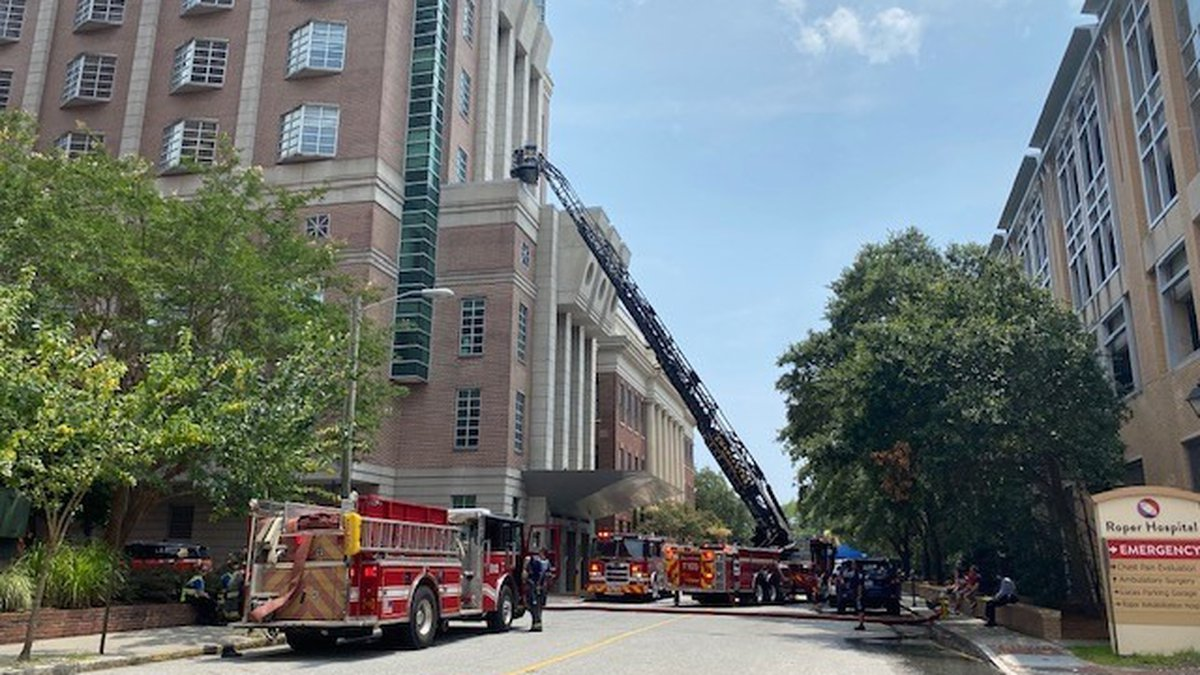 """The Charleston Fire Department says they responded to a """"smoke condition"""" on Saturday at MUSC..."""