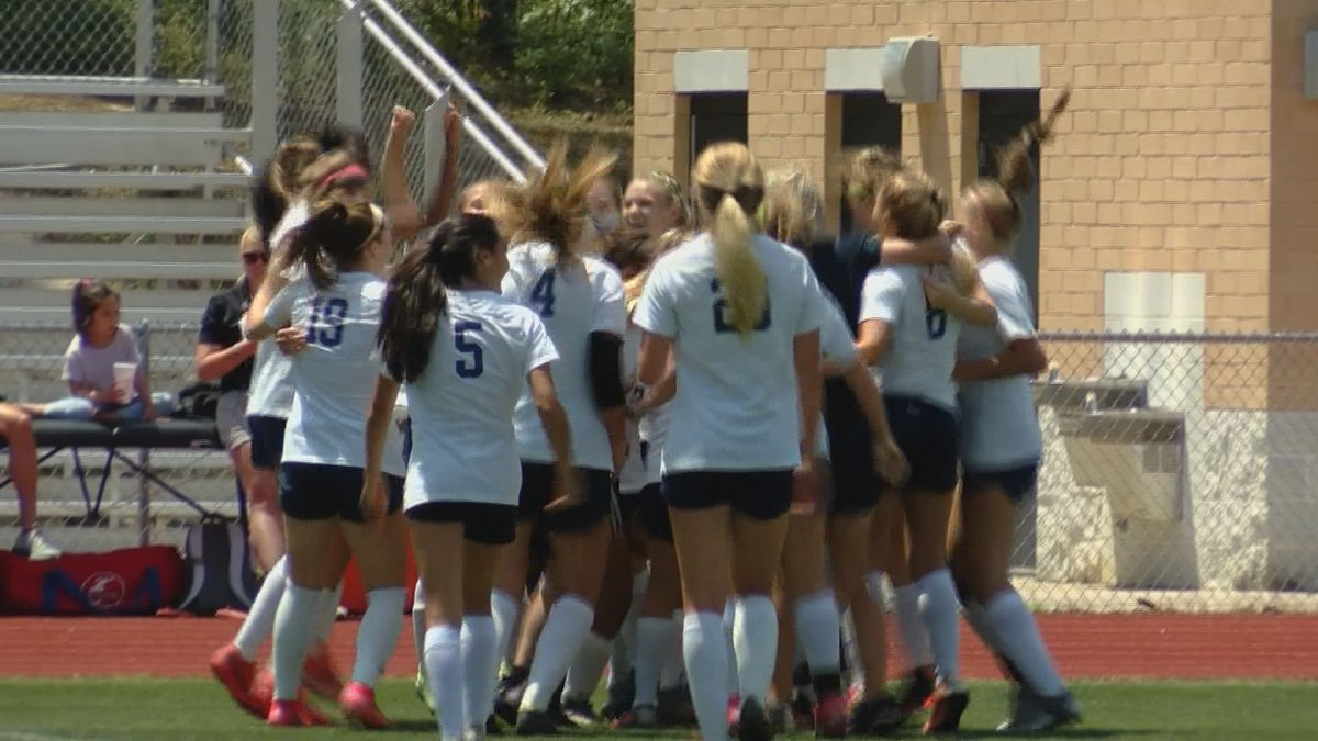 The Pinewood Prep girls soccer team defeats Hammond 3-0 to secure the SCISA 3A state title.