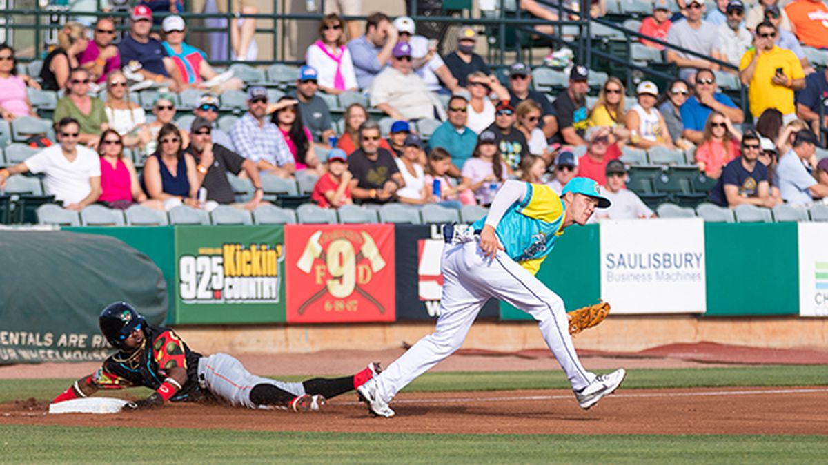 The Charleston RiverDogs were held off the scoreboard for the first time this season, falling...