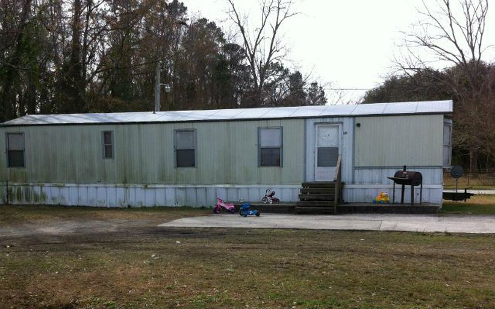 The mobile home at 104 Nings Place. (Source: Harve Jacobs)