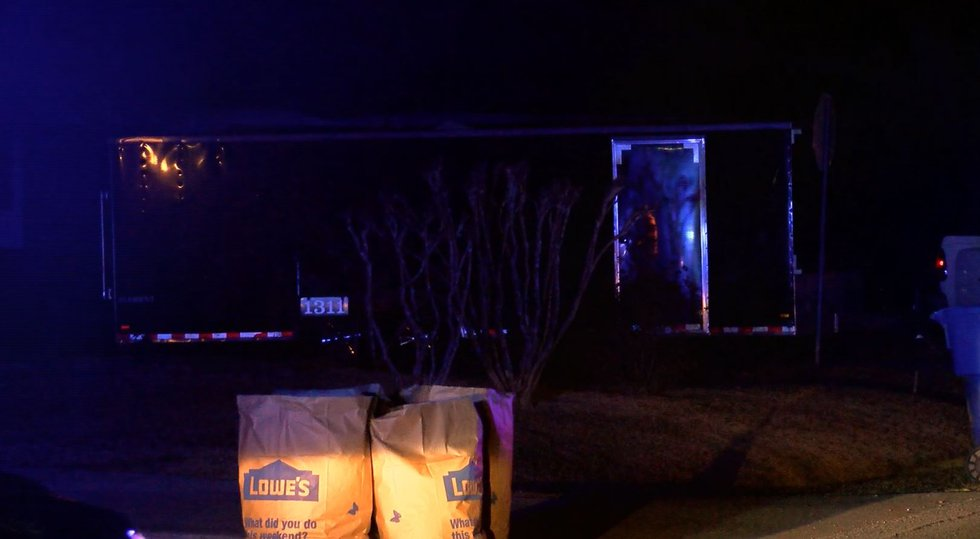 The trailer that the motorcycles were found in on Tuesday night (Source: Live 5)
