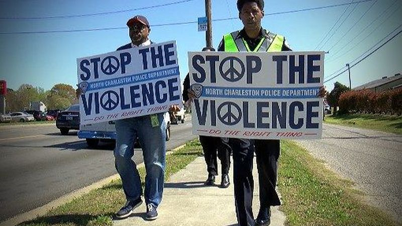 """North Charleston police chief Reggie Burgess took to the streets again on Wednesday for a """"Stop..."""