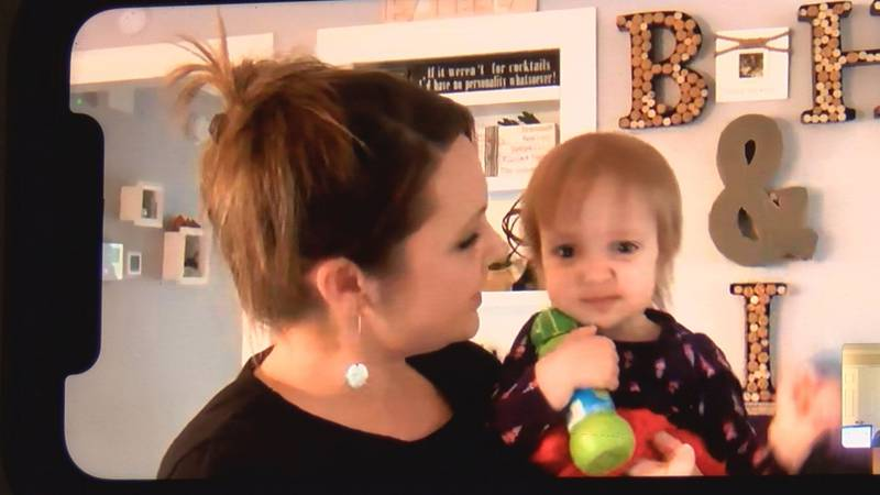 Heather Mahoney hopes she can get vaccinated to protect her daughter Isabella, who is...