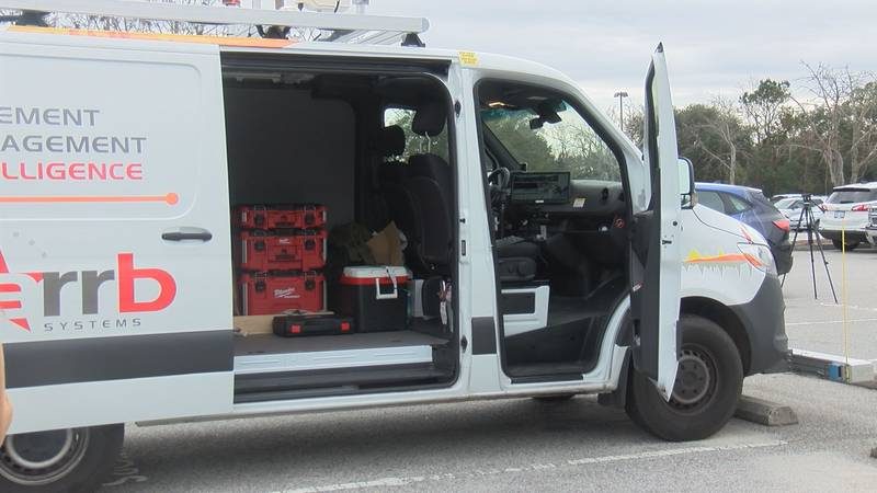 This van, which will be driven all over Charleston County, is equipped with multiple cameras...