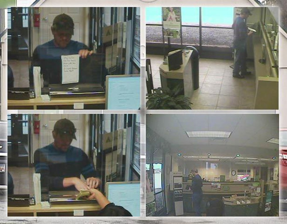 Pictures of suspect from Regions Bank robbery. Source: NCPD