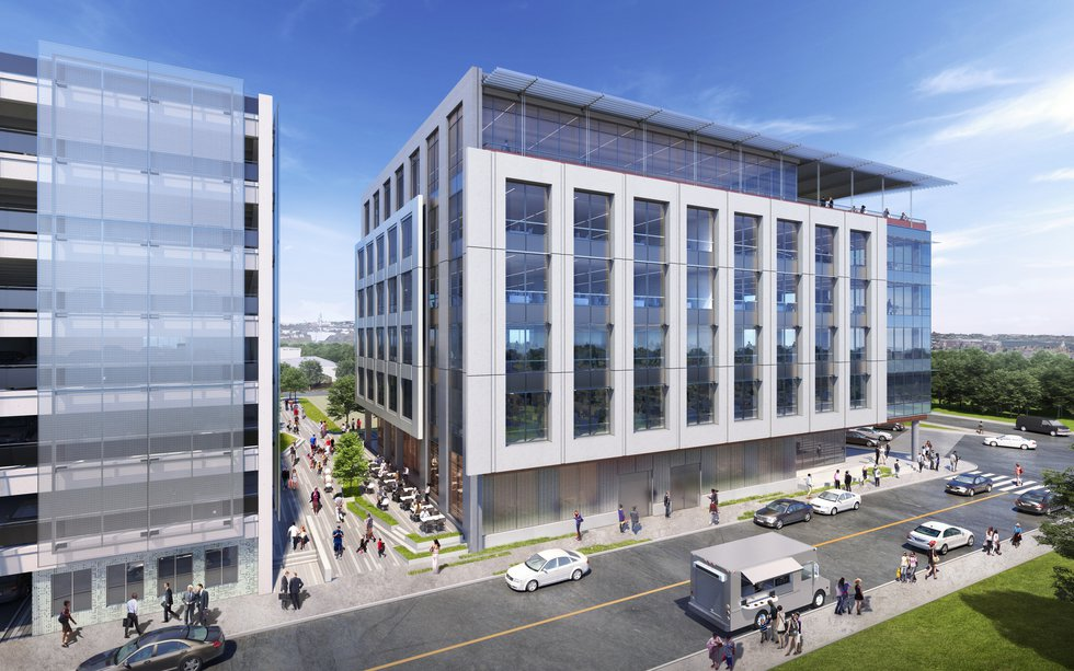 A second rendering of the building shows the development during daylight hours (Source: Provided)