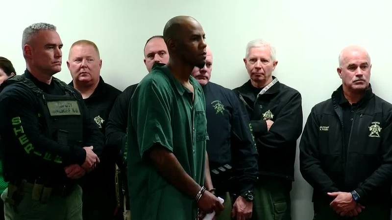 James Bell, center, appeared for a bond hearing Tuesday morning in Florence County.