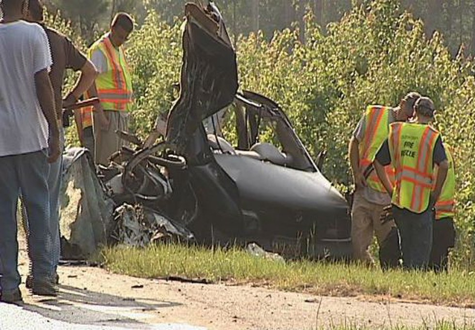 A tractor-trailer is destroyed after a wreck Wednesday. (Source: Gene Edwards)